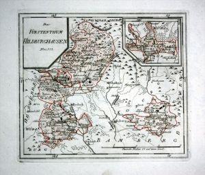Hildburghausen Eisfeld Heldburg Rodach - Reilly Karte map