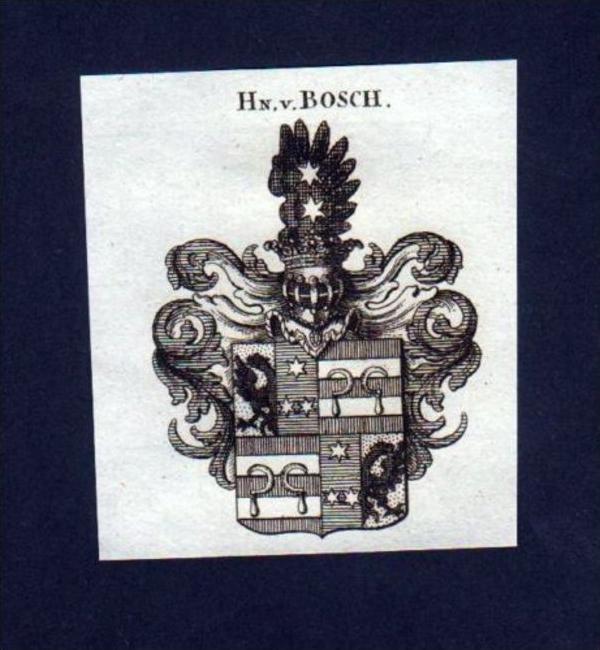 Herren v. Bosch Heraldik Kupferstich Wappen engraving Heraldik crest