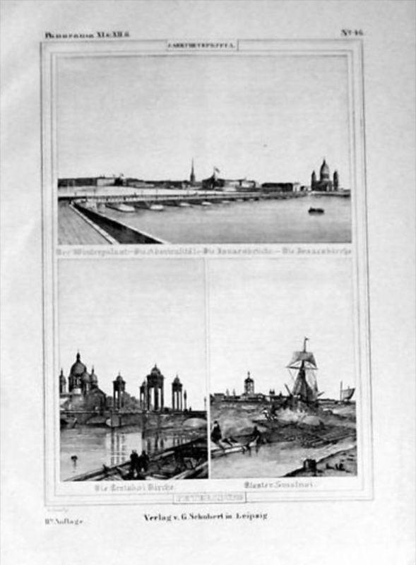 Sankt Petersburg Russia Lithograph