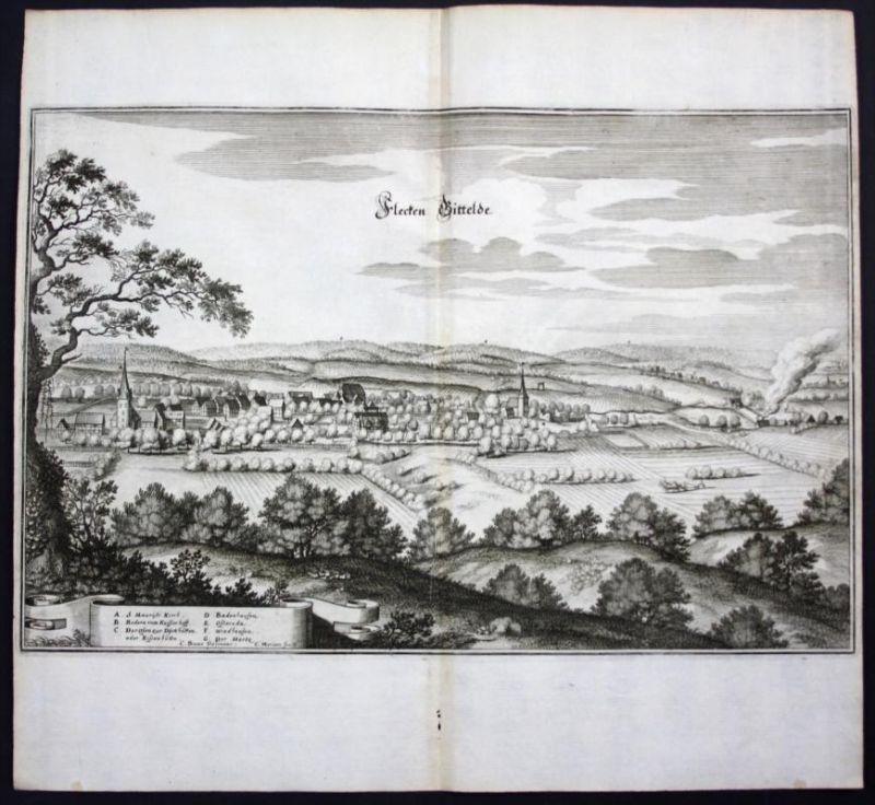 Gittelde / Bad Grund / Harz - Karte Kupferstich Merian
