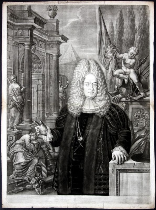 Friedrich Wilhelm Ebner Eschenbach Portrait Mezzotinto Aquatinta