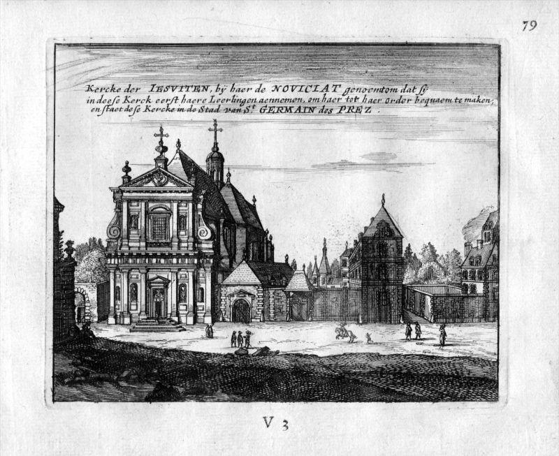 Kirche Saint Germain des Pres Paris Frankreich France gravure estampe Kupferstich