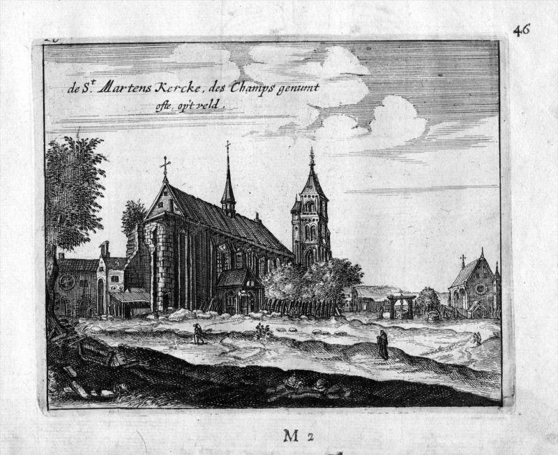 Kirche Saint Martin des Champs Paris Frankreich France gravure estampe Kupferstich