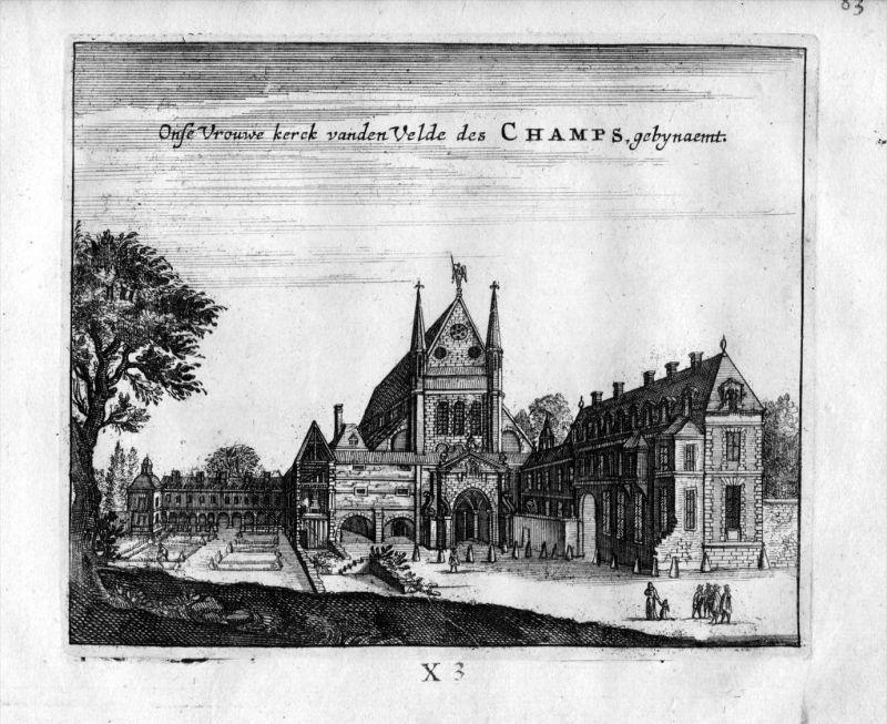 Saint Martin des Champs Kirche Paris Frankreich France gravure estampe Kupferstich