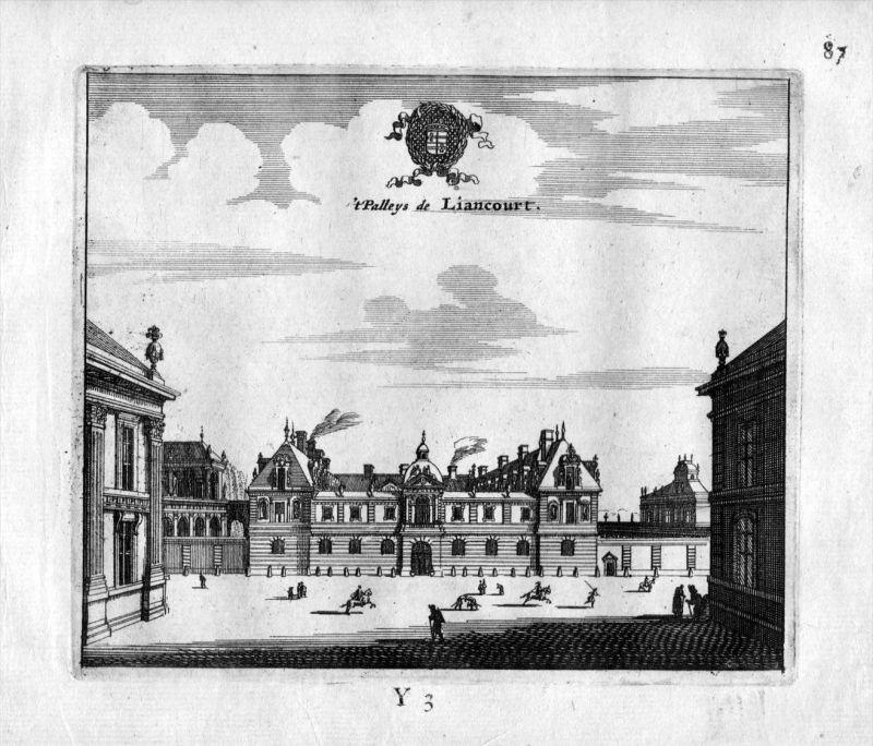 Chateau Liancourt Paris Frankreich France gravure estampe Kupferstich