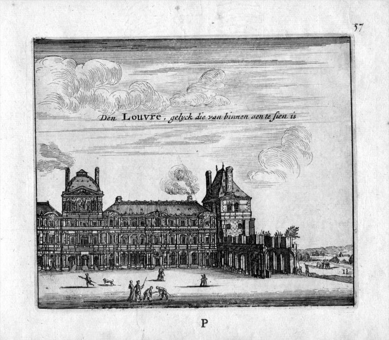 Louvre Galerie Paris Frankreich France gravure estampe Kupferstich