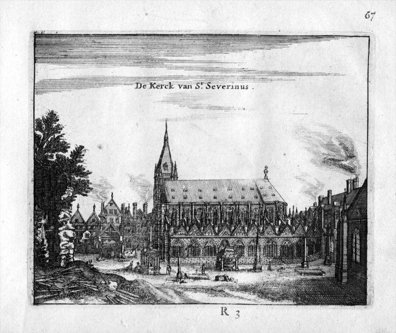 Kirche Saint Severin Paris Frankreich France gravure estampe Kupferstich