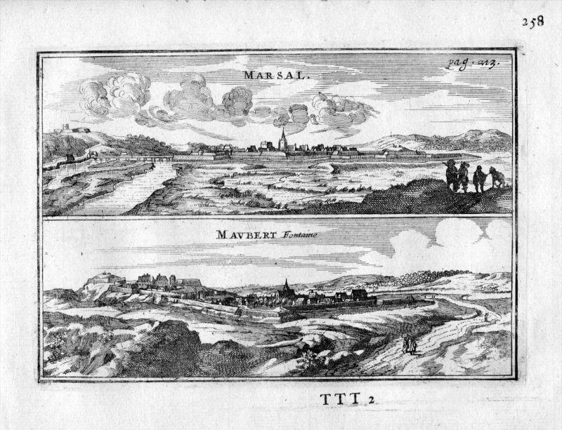 Marsal Moselle Maubert-Fontaine Frankreich France gravure estampe Kupferstich