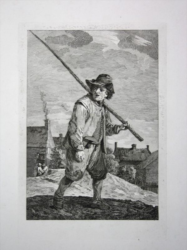Mann man Hirte sheppard Tracht costume Kupferstich engraving 0