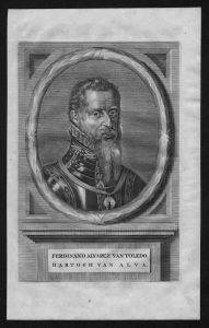 Fernando Alvarez de Toledo Alba Pimentel Portrait Kupferstich grabado