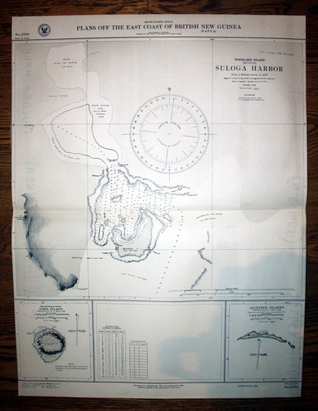 Plans off the East Coast of British New Guinea. Woodlark Island. Suloga Harbor.
