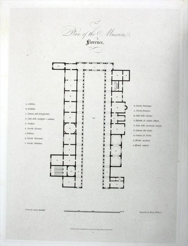 Quot Plan Of The Museum Florence Quot Galleria Degli Uffizi