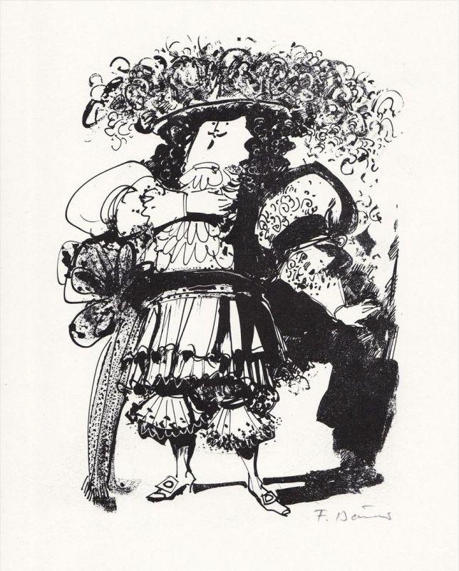 Lithographie zu Jean-Baptiste Moliere: