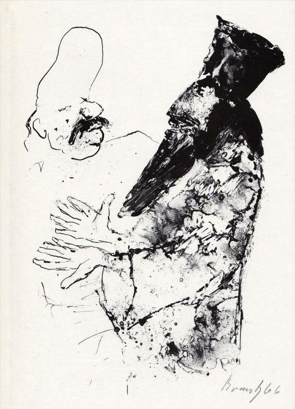 Rotaprintzeichnung von Joachim Braatz zu Nikolai Gogol,