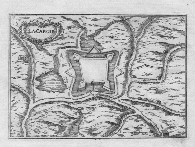 1640 - Crecy-la-Chapelle Meaux Seine-et-Marne France gravure Kupferstich Tassin
