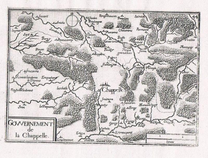 1660 - Crecy-la-Chapelle Seine-et-Marne Ile-de-France gravure Kupferstich Tassin