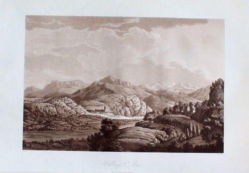 1795 - Saint-Pons-la-Calm Nimes aquatinte  aquatint aquatinta gravure