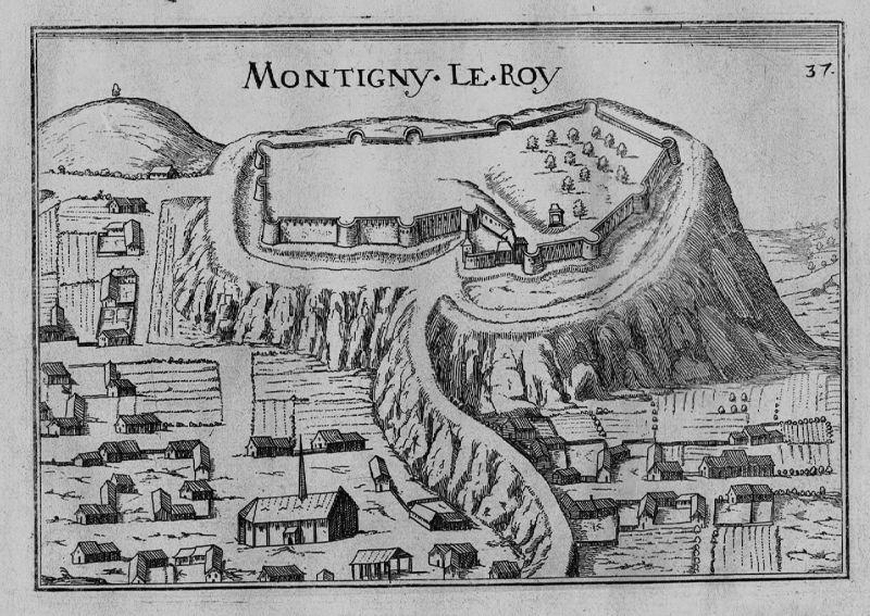 1640 - Montigny-le-Roi Val-de-Meuse Haute-Marne gravure Kupferstich Tassin