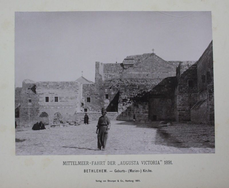 1891 - Bethlehem Church of the Nativity albumen albumin Foto photo