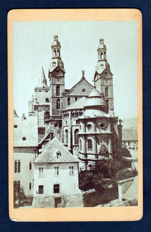 Ca. 1870 Trier Dom Ansicht original Foto photo CDV