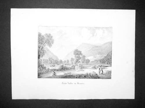 1839 - Munster Haut-Rhin Elsass Alsace Lithographie