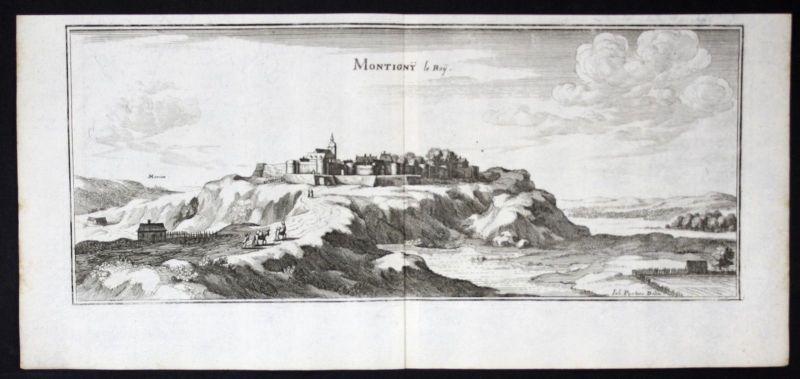1650 - Montigny-le-Roi Haute-Marne gravure estampe Merian engraving