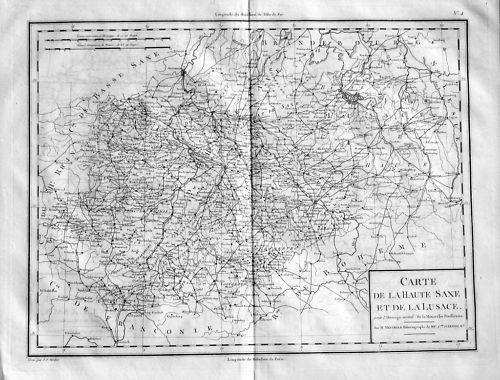 1780  Sachsen Sachsen-Anhalt Original Kupferstich Karte Saxony map