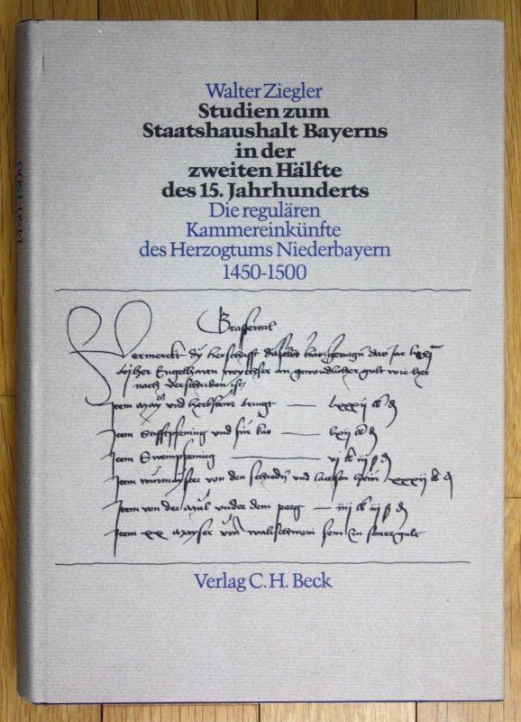 1981 Walter Ziegler Studien zum Staatshaushalt Bayerns Bayern Beck München