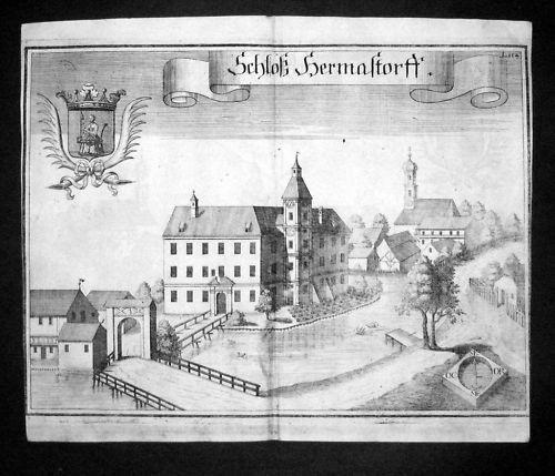 1720 - Hörmannsdorf b. Moosberg Landshut Kupfer Wening