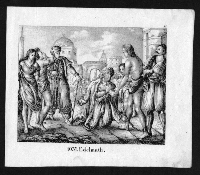 1830 - Edelmut Orient Turkey Greece costumes Lithographie Lithograph