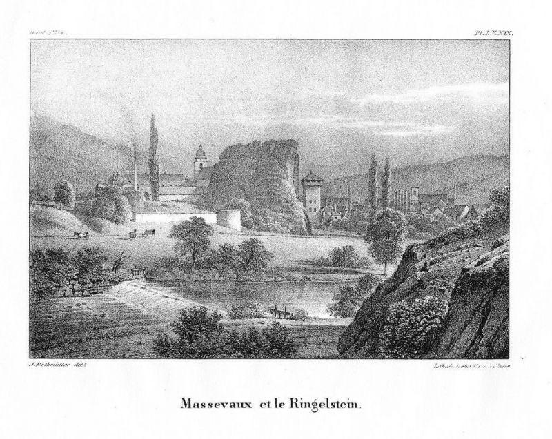 1830 - Maseveaux Alsace Elsass Lithographie