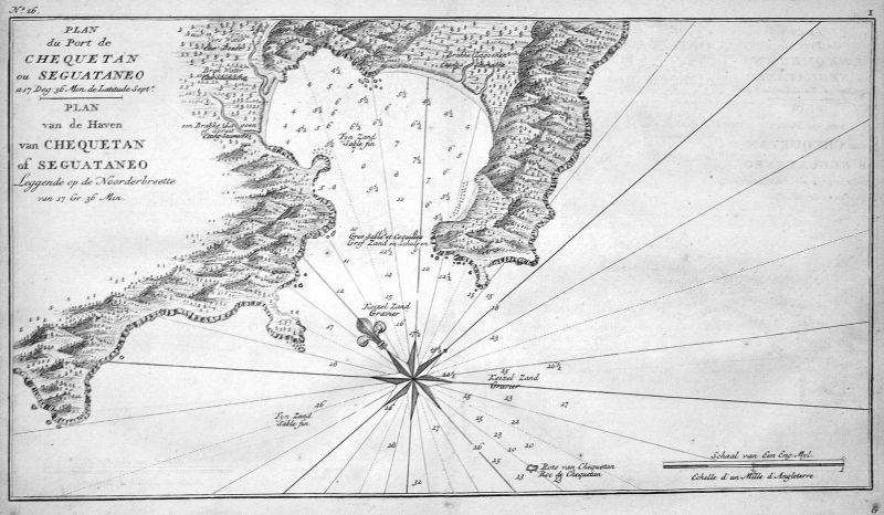 Plan du Port de Chequetan ou Seguataneo - Zihuatanejo Mexico puerto Zihuatanejo Map on