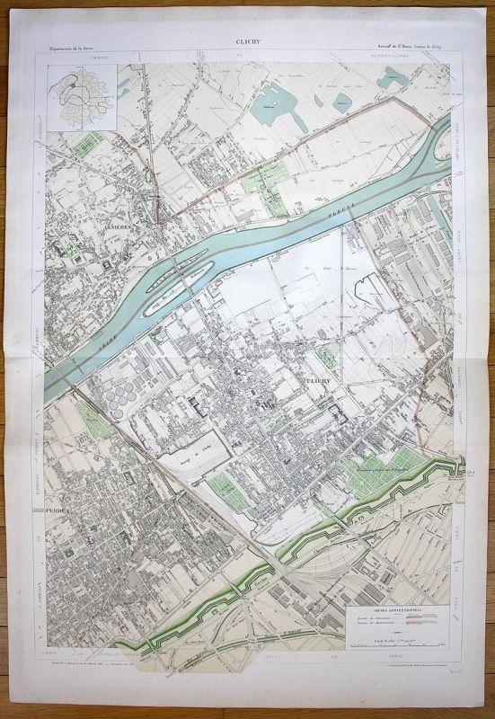 Clichy - Clichy Asnières-sur-Seine Levallois-Perret plan de la ville on