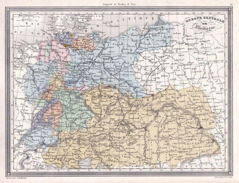 Europe Centrale ou Allemagne - Europe Europa Schweiz Svizzera ...