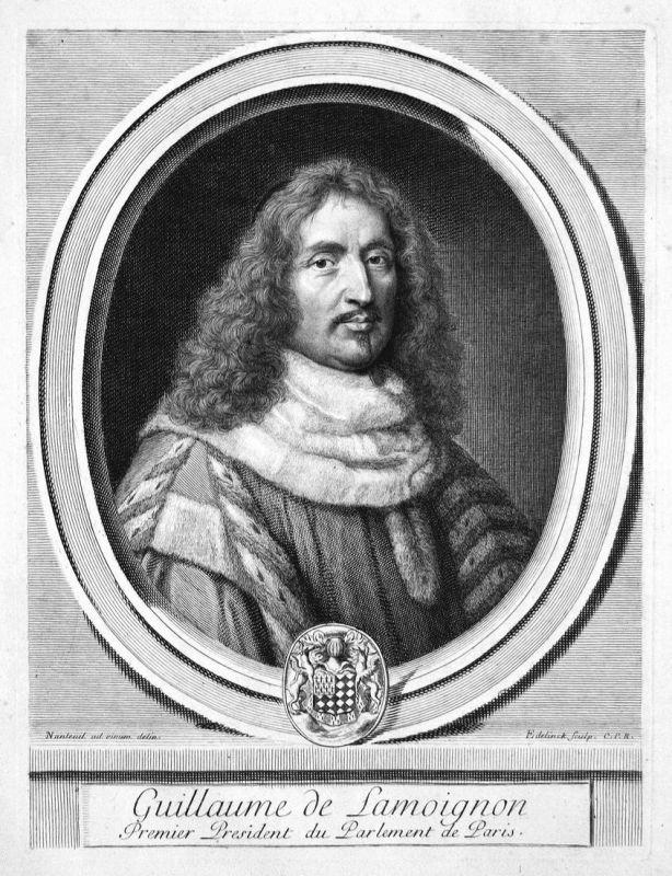 Guillaume de Lamoignon - Guillaume de Lamoignon Jurist jurist avocat Portrait Kupferstich engraving