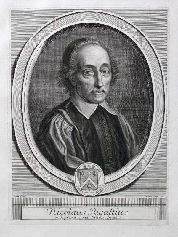 Nicolaus Rigaltius in Suprema curia Metensi Decanus - Nicolas Rigault Gelehrte scholar erudit philologue philo