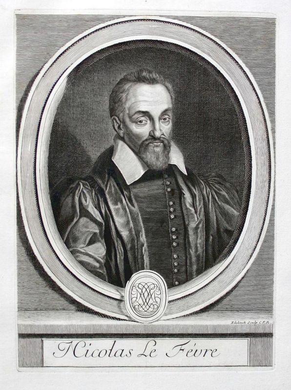 Nicolas Le Fevre - Nicolas Lefevre Philologe philologue philologist Portrait Kupferstich engraving