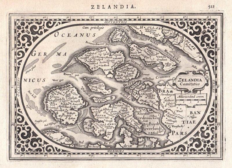 Zeeland Holland Karte.Zelandia Comitatus Zeeland Seeland Holland Niederlande Netherlands Map Karte Gerard Mercator