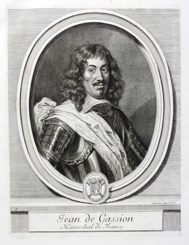 Jean de Gassion - Jean de Gassion marechal Marschall President Navarre Portrait Kupferstich engraving