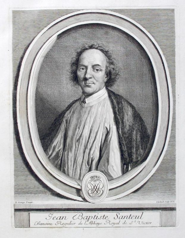 Jean Baptiste Santeul - Jean de Santeul poete Poet Dichter gravure Portrait Kupferstich engraving