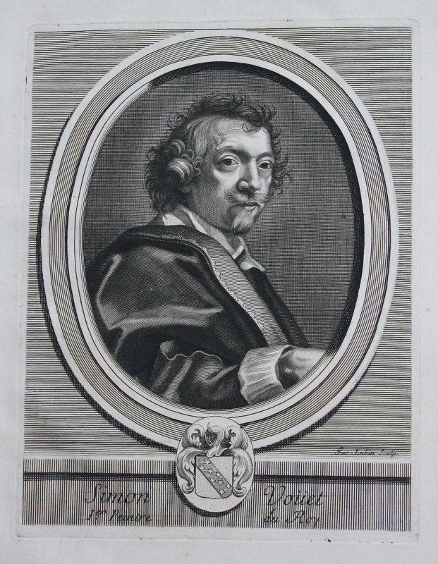 Simon Vouet - Simon Vouet peintre Maler painter Baroque Portrait Kupferstich engraving gravure