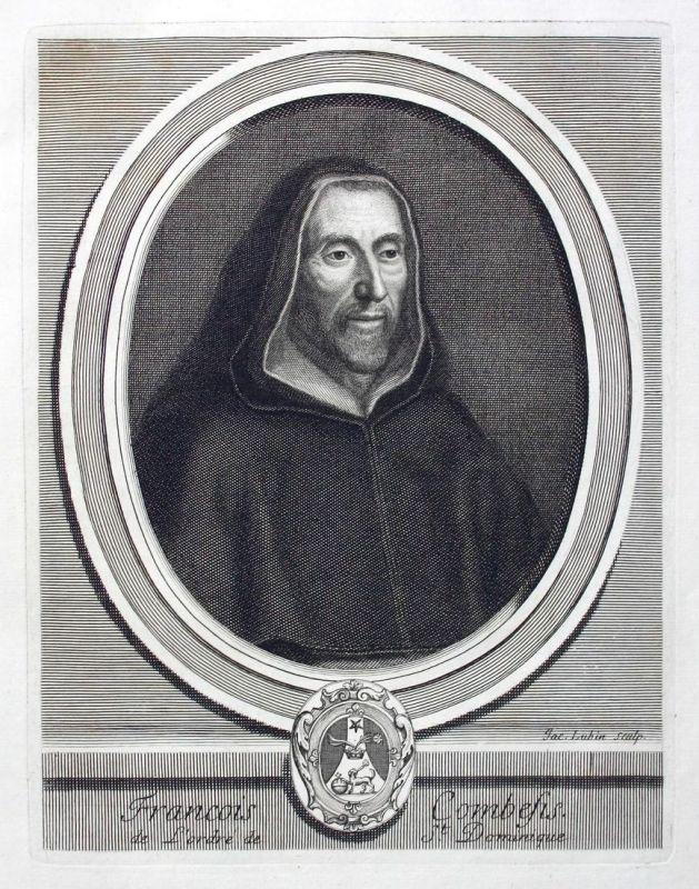 Francois Combefis de l'Ordre de St. Dominique -  Francois Combefis Dominikaner Portrait Kupferstich gravure en