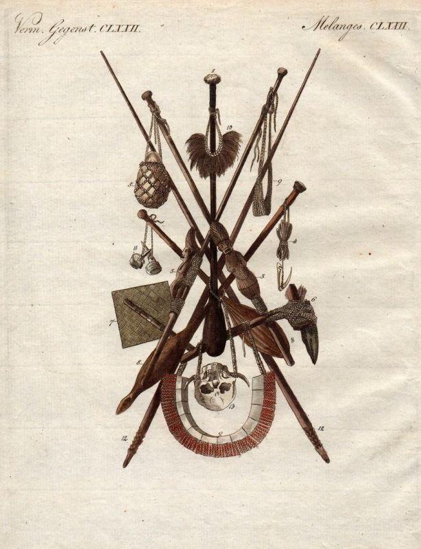 Verm. Gegenst. CLXXII - Waffe weapon Waffen weapons Werkzeuge tools Werkzeug tool Nuku Hiva island Insel Frenc
