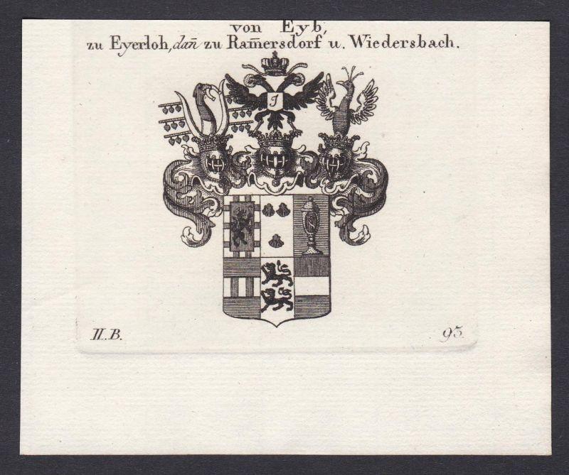 von Eyb, zu Eyerloh, dan zu Ramersdorf u. Wiedersbach - Eyb Eyerloh Rammersdorf Wiedersbach Wappen Adel coat o