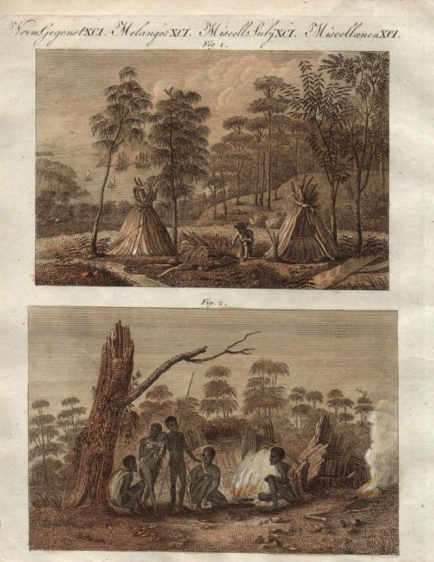 une femme de la terre de van diemen tasmanien tasmania australien woman frau kupferstich. Black Bedroom Furniture Sets. Home Design Ideas