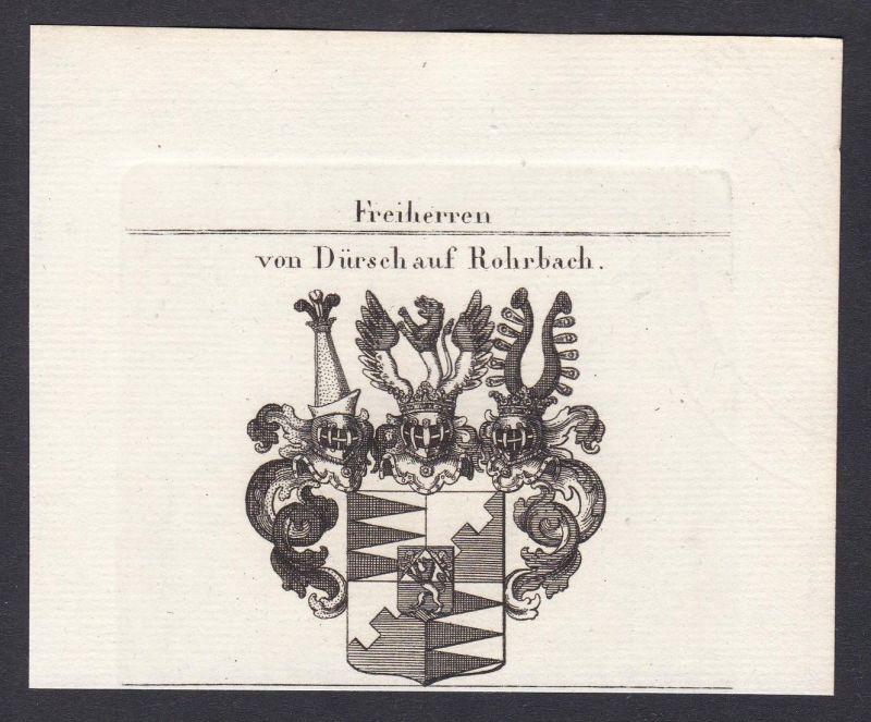 Freiherren von Dürsch auf Rohrbach - Dürsch Rohrbach Bayern Wappen Adel coat of arms heraldry Heraldik Kupfers