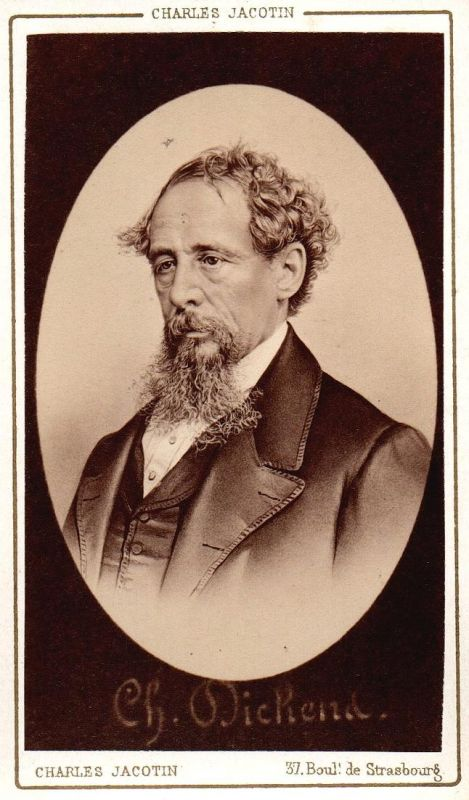 Charles Dickens (1812-1870) - Schriftsteller writer ecrivain Portrait CDV Foto Photo vintage 0