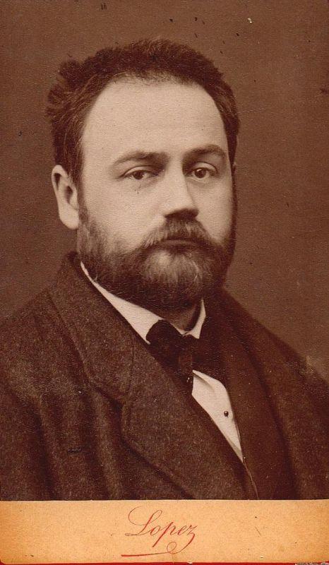 Emile Zola (1840-1920) - Schriftsteller writer ecrivain Portrait CDV Foto Photo vintage 0