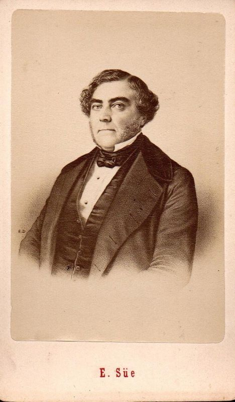 Eugène Sue (1804-1857) - Schriftsteller writer ecrivain Portrait CDV Foto Photo vintage 0