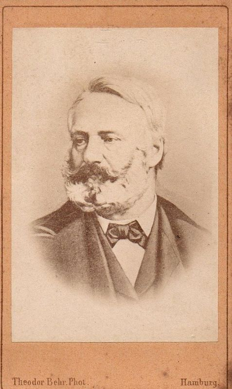 Victor Hugo (1802-1885) - Schriftsteller writer ecrivain Portrait CDV Foto Photo vintage